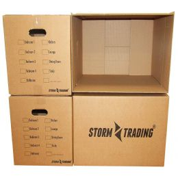 Large Premium Storm Trading Printed Double Wall Removal Boxes 20 x 13 x 13""